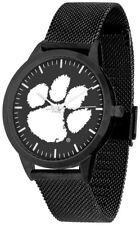 Clemson Tigers Black Mesh Band and Dial Men Watch