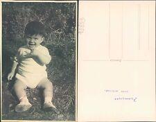 FOTO DI BIMBO DI UN ANNO SUL PRATO - (FRANCESCO)   -   (rif.fg.11853)