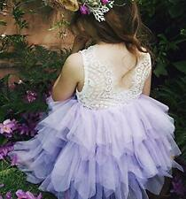 Lace Princess Girl Dress Tutu Birthday Party Dresses Backless Casual Clothing