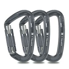 Lot of 3 - K-Square EN Certified Locking Climbing Carabiner for Mountaineers