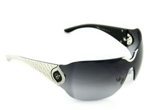 RARE Genuine CHOPARD 23KT White Gold Crystal Shield Sunglasses SCH 883 S 0579