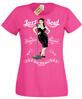 Jazz Soul T-Shirt New Orleans Womens Ladies