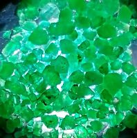 SALE Gorgeous Green Lot Natural Emerald Rough Tiny Crystals Afghanistan
