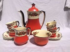 Early 20th C 1910 Wedgwood & Co porcelain coffee set Richelieu pattern