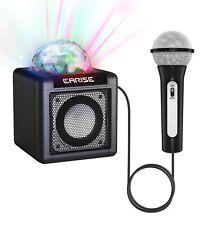 EARISE T12 Kinder Karaoke Mikrofon Bluetooth-Lautsprecher, LED-Disco-Lichtkugel