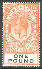 Gibraltar 1925 red-orange/black £1 multi-script mint SG107