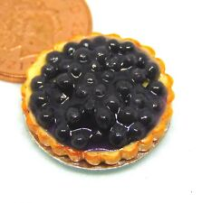 1:12 Scale Black Berry Flan 2.2cm Tumdee Dolls House Kitchen Food Accessory D30