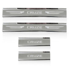 Chrome Stainless Steel Scuff Plate Door Sill Chevrolet Cruze 2010 2011 2012 2013