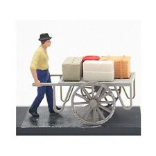 Preiser HO 28036 Individual Figure - Pedestrians -- Man With Cart 1:87