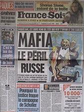▬► Journal France Soir 14/04/1995 Marlène Jobert Liz Taylor Sharon Stone