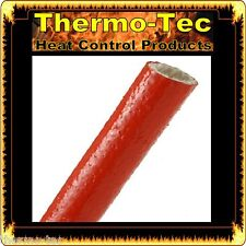 19.1mm x 1.2m Fire Flex Fiberglass Silicone Protective Heat Shield Sleeve - Red