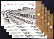 2010 Malaysia 125 Years KTM Train Railway 10v Stamps Booklet Mint Lot of 5 books