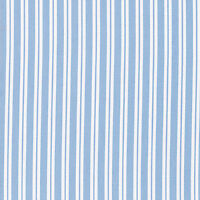 "SOFT COTTON CLOTHES DRESS DUVET BEDSPREAD FABRIC PAJAMA STRIPE WHITE BLUE 44""W"