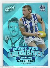 2013 Prime Select Draft Pick Eminence (DPE67) Lachlan HANSEN North Melbourne