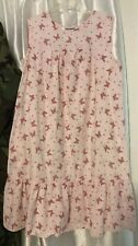 Anthony Richards Sleeveless Nite gown house dress w/ Butterflies Small 1 pocket