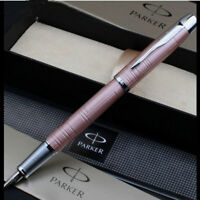Good Perfect Parker Pen Classic IM Series Pink Carved 0.5mm Nib Fountain Pen
