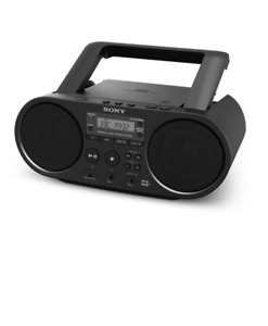 Sony ZSPS55 Boombox CD Player with FM DAB Radio & USB Playback - Black