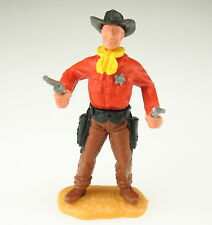 TIMPO TOYS - Cowboy - SHERIFF - Oberteil rot mit Stern - Hose braun + 2x Pistole