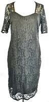 So Fabulous! Women's Dress Black Size 18 Lace Overlay Occasion Party VGC