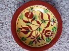 James Seagreaves Glazed Redware Pottery PA Dutch Bowl, Folk Art