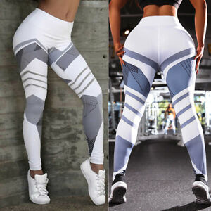 Women's High Waist Yoga Pants Fitness Push Up Leggings Workout Stretch Trousers