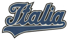 "ITALY WORLD CUP SOCCER ITALIAN NATIONAL TEAM ITALIA 9.75"" CURSIVE SCRIPT PATCH"