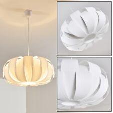 Lampe à suspension ronde Plafonnier Retro Lustre Lampe pendante Plastique blanc