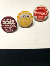 Pennsylvania Resident Fishing License (Qty-3) Years 1948, 1949, and 1950