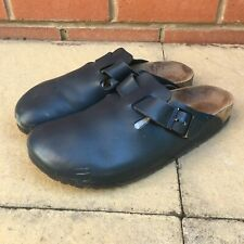 Birkenstock Size 9 Eu 43 navy Leather Boston Slip On