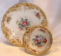 Tuscan Fine English Bone China Floral Demitasse Cup & Saucer Numbered