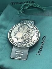 1837 TIFFANY CO STERLING SILVER 1899 MORGAN DOLLAR  MONEY CLIP + Box & Bag