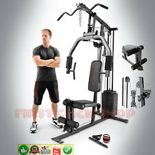 Home Gym System Exercise Machine 100 Lb Stack Weight Best Tricep Lat Pull Up Dip