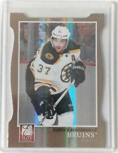 2011-12 Panini Elite Status GOLD Die-Cut Patrice BERGERON /99 Bruins