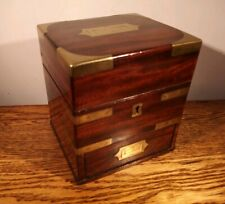 SUPERB FINE QUALITY GEORGE III BRASS BOUND APOTHECARY BOX c.1812
