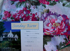 Shabby Rose Garden Sheer Bed Cover Sunday River Chic Queen 98x84 Window Scarf