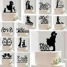 Cake Topper Wedding Mr & Mrs Bride & Groom Anniversary Party Favours Decor DIY