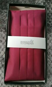 MEN'S BURGUNDY CUMBERBAND FROM BROADBENTS & BOOTHROYDS ONE SIZE, NEW & BOXED