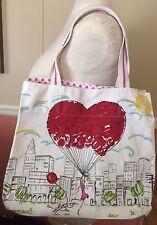 Brighton Cotton Canvas Tote Bag Free  Heart Balloon City Summer Sun Large Shop