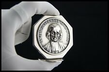 † 1950 SAINT JMB VIANNEY SILVERPLATED ICON PLAQUE MEDAL THE CURE OF ARS FRANCE †