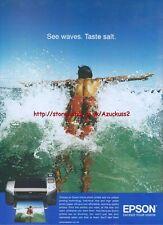 """Epson """"See Waves. Taste Salt"""" Printer 2005 Magazine Advert #1229"""
