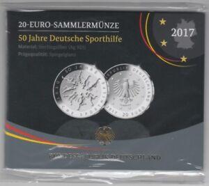 50 Années Deutsche Sporthilfe Argent Poli Plaque 2017