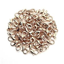 100pcs Rose gold DIY Jewelry Findings Lobster Trigger Claw Clasps Connector
