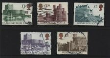 GREAT BRITAIN - UK CASTLES X 5. 1988 to 1995.CV $35