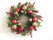 Traditional Red and Gold Large 61cm Christmas Wreath