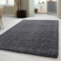 Dark Grey 160x230cm Large Soft Shaggy Floor Rug Mat Thick Non-Shed Pile (Verona)