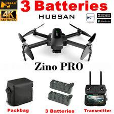 Hubsan Zino PRO 5G FPV APP Drone W/4.5KM 12MP 4K Camera GPS 3Gimbal+2Battery+Bag