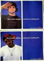 Bam Margera Stevie Williams 411 skateboard poster CKY NEW old stock Flawless