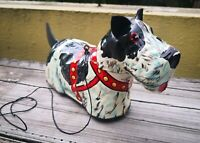 "VTG 1950's MEXICAN MARX PLASTIMARX 12"" SCOTTIE DOG WIND UP TIN LITHO TOY MEXICO"