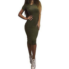 SUMMER Women Bodycon Short Sleeve Dress Evening Cocktail Party Lady Pencil Dress