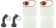 2x FuelFriend®-PLUS CLEAR 1,0 Liter Mini-Reservekanister+Füllrohr verschließbar